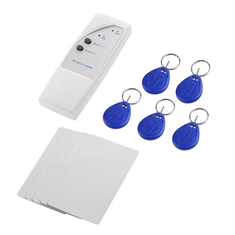 Newest Handheld RFID Reader 125Khz Smart ID Card Reader Copier Writer Duplicator With 10pcs Readable Writable Keyfobs Tags Cards