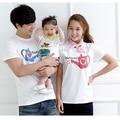 2017 хлопок футболка сердце мать и дочь одежда сопоставления семьи одежда семья посмотрите футболка