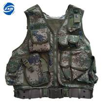 Hunting fishing vest outdoor tactical camo vest with double mesh multi pocket Military Army Combat Painball Molle Airsoft Nylon(China)