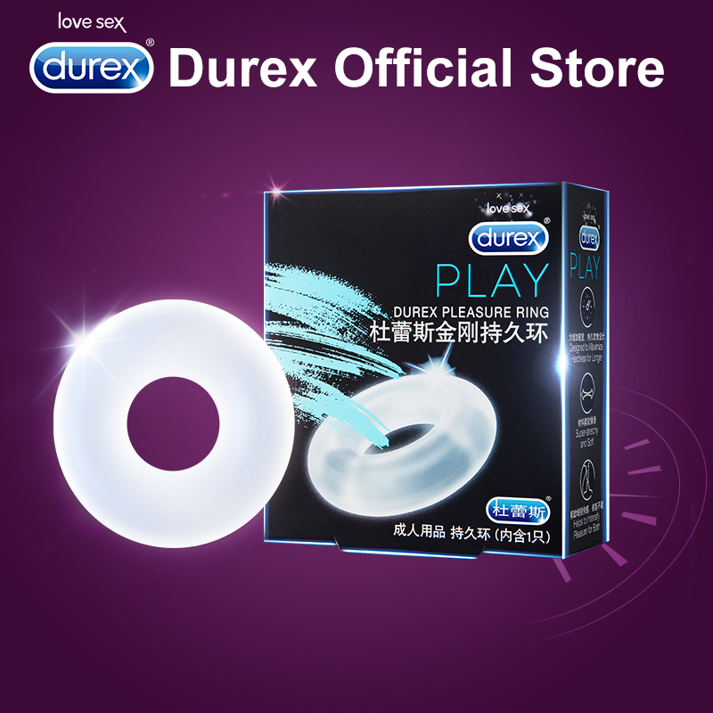 Durex Pleasure Ring for Condom Enlargement Ring Penis Sleeve Extender Sex Toys Erotic Safe Products for Men Ejaculation Delay