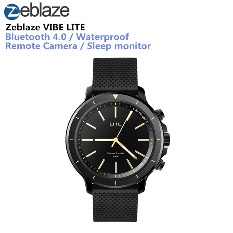 Zeblaze VIBE LITE Michezo Smartwatch Bluetooth Nje 5 ATM Waterproof Smart Sport Fitness Trackers Weather Forecast Watch Men