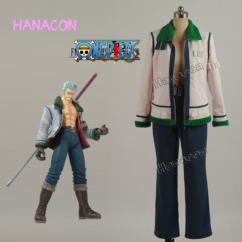 Anime One Piece Smoker Cosplay Costume Smoker Costume Cosplay Daily Suit Full Set Uniform Outfit Halloween Cosplay Customized