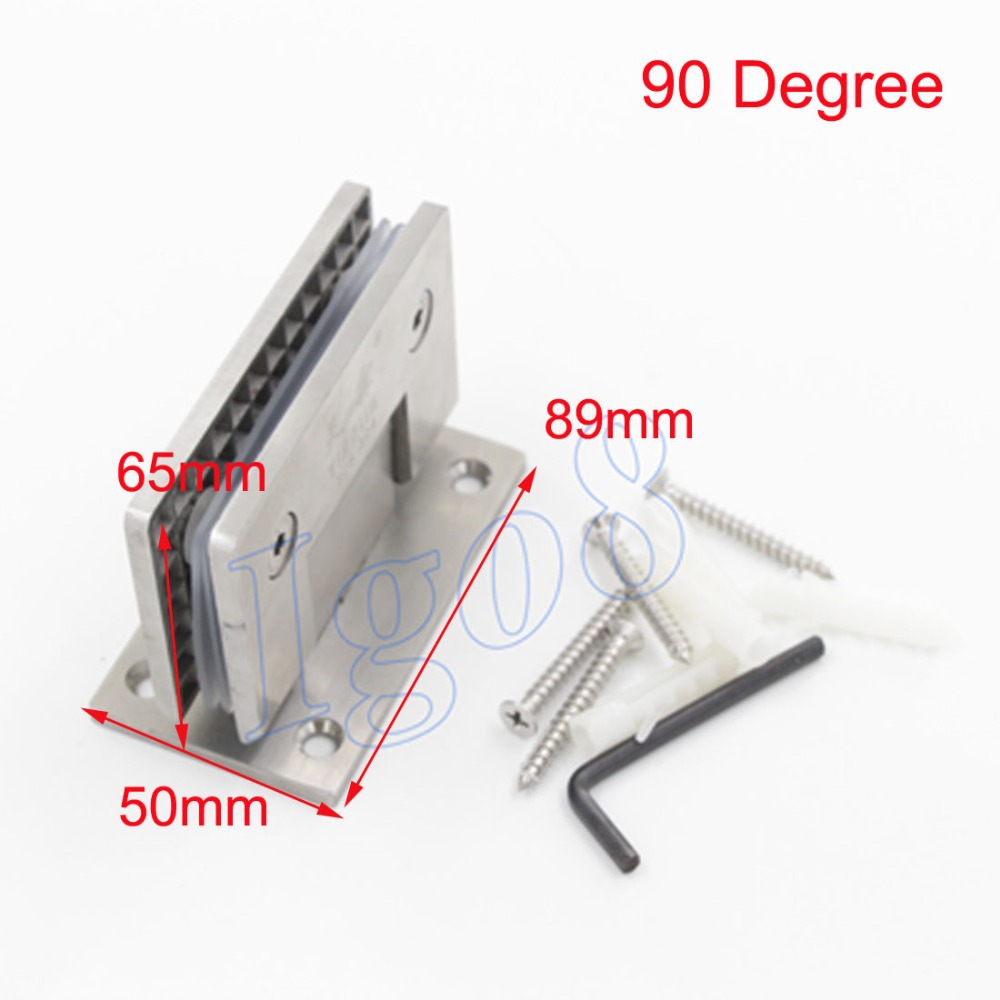 ФОТО High Quality Bilateral 90 Degree Glass Pipe Bathroom Clamp SUS304 Stainless Steel