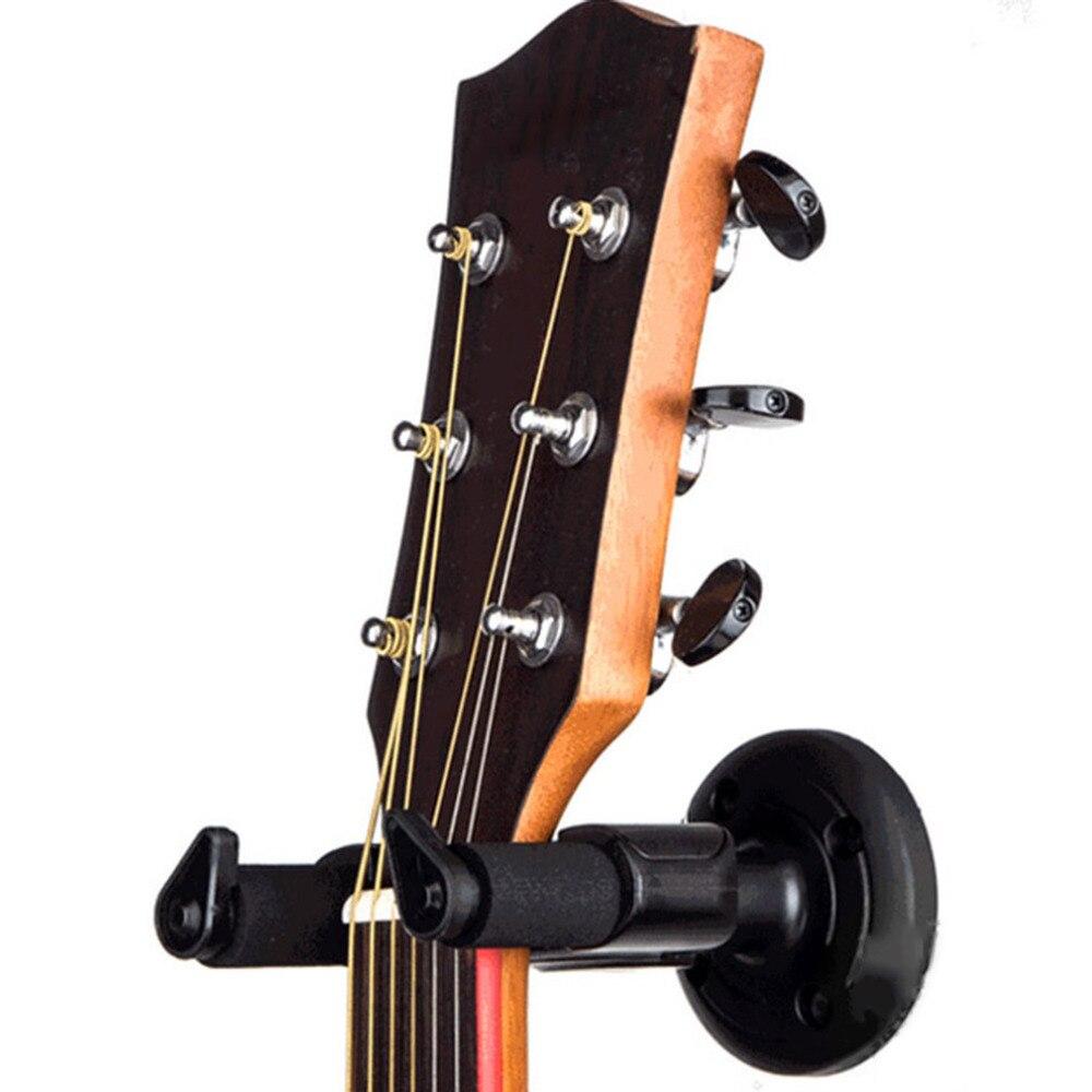 electric guitar wall hanger holder stand rack hook mount for various size guitar black guitar. Black Bedroom Furniture Sets. Home Design Ideas