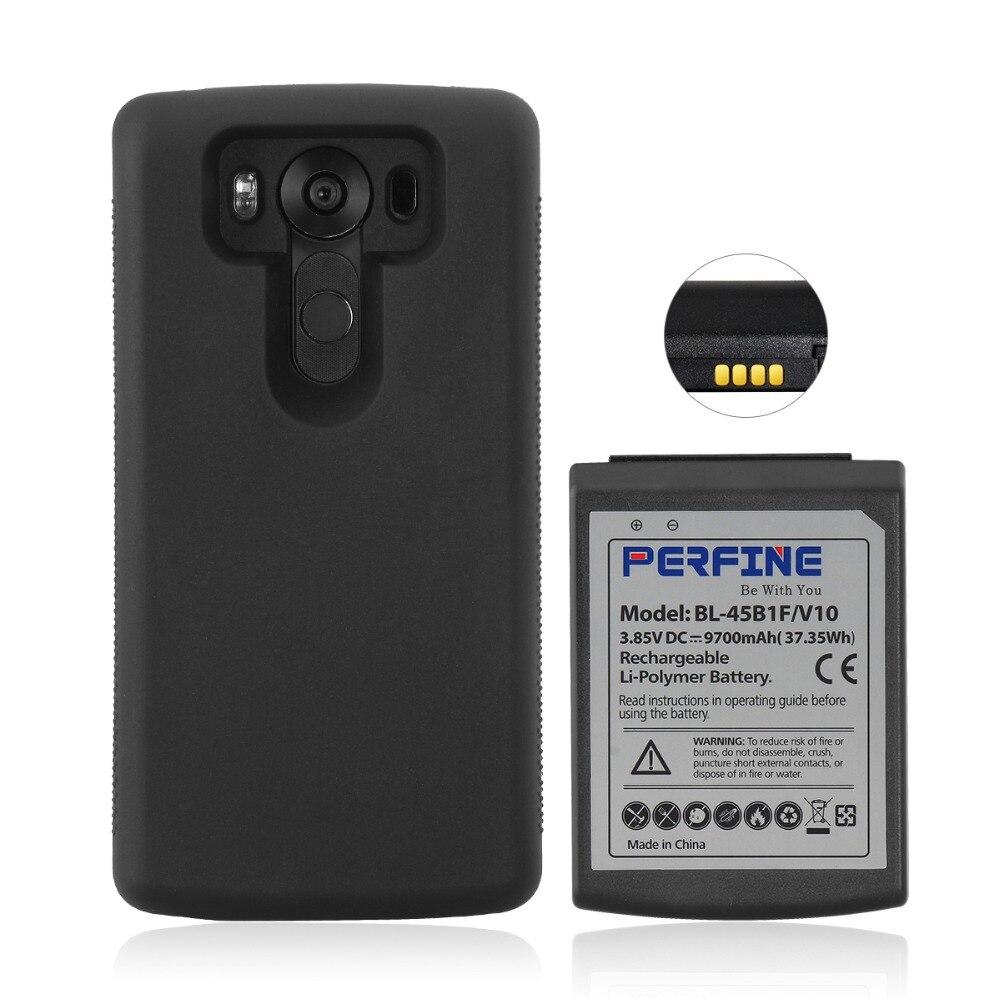 V10 batterie 9700 mAh avec TPU étui de protection à bord complet pour LG V10 H968 VS990 BL-45B1F batterie de téléphone Mobile de remplacement prolongée