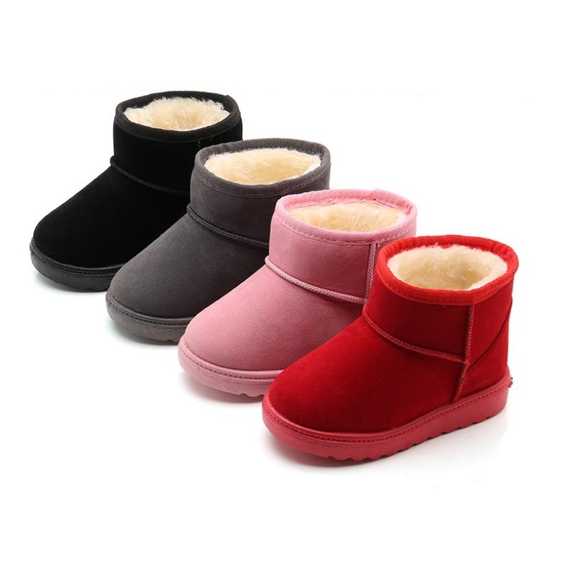 HaoChengJiaDe New Arrival Bling Winter Shoes For Girls Plush Toddler Boy Boots Kids Keeping Warm Baby Snow Boots Children Shoes