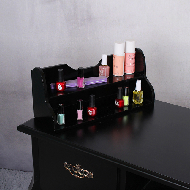 Good Luck Solid Wood Storage Box Nail Polish Shelf Tables Tables A Special  Black Manicure