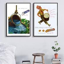 Póster publicitario Vintage salvavidas Cool Mint Candy carteles Retro Kraft pinturas de lienzo clásicas pegatinas de pared decoración del hogar regalo