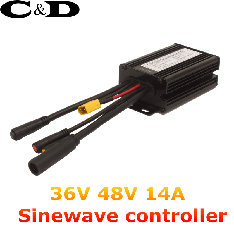 Waterproof Connector 36V 250W 48V 350W 14A 6 Mosfet Electric bicycle Brushless Controller Sinewave KT Series