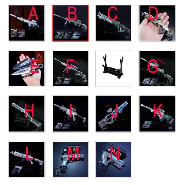 14 sztuk/partia Hot gry APEX legendy figurki zabawki APEX legendy bohatera pistolet Model brelok zestaw wisiorek akcesoria 21 cm w Figurki i postaci od Zabawki i hobby na  Grupa 1