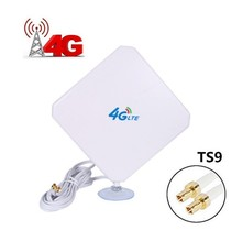 цена на 35dBi 4G external indoor LTE WIFI Antenna Signal Amplifier TS9 Connector for E589 E392 ZTE MF61 MF62 aircard 753s 754s760s