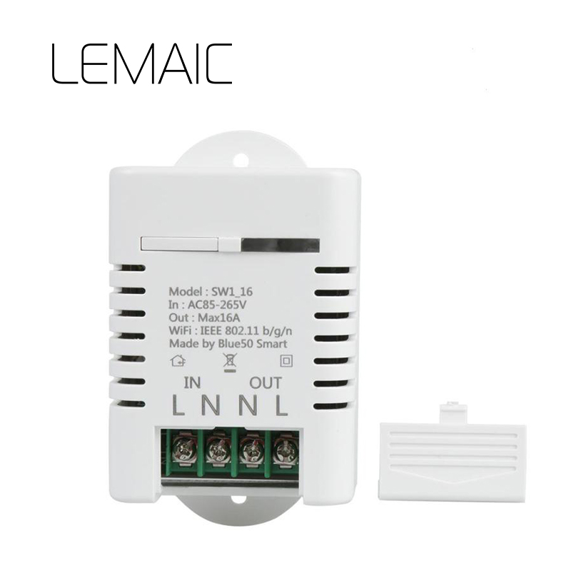 цены LEMAIC Wireless Wifi Switch For Smart Home Automation Relay Module 10A 90-250V 220V for IOS Android Remote Controller S2