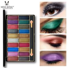 Brand MISS ROSE 20 color Pearlescent Eyeshadow Professional Make-up Multicolor Palette Pressed Glitter