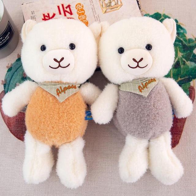 Plush Toy Scarf Big Head Sheep Camel Plush Toy Doll Soft Plush Alpaca Home Decoration Doll Girl Pillow Child Birthday Gift