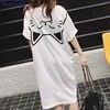 Harajuku Women Fashion Long Loose T Shirt Female 2018 Summer Short Sleeve Kawaii Pattern Oversize Tops