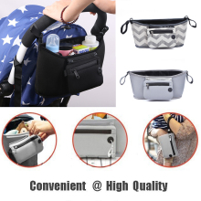 Baby Stroller Pram Buggy Pushchair Travel Organizer Basket Diaper Storage Bag