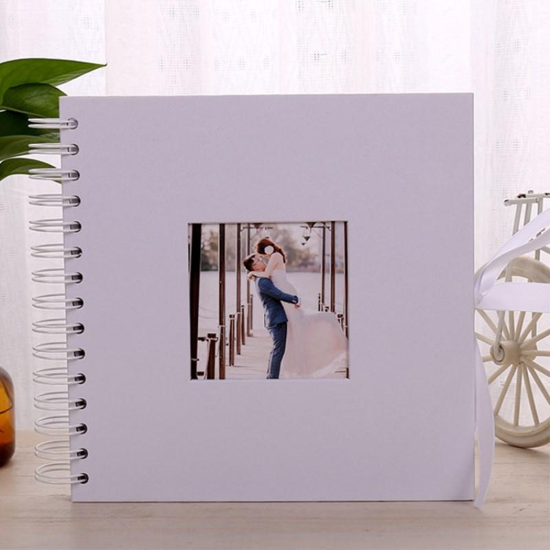 Printed Album: Scrapbook Wedding Message Book White No Printed Bow DIY