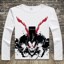 DEATH NOTE L Print T-shirts Long Sleeve Casual Tops Yagami Light Unisex Spring Autumn Tees T Shirts