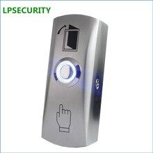 """LPSECURITY NO COM светодиодный светильник кнопка """"Exit"""" переключатель для система контроля допуска к двери дверной кнопочный переключатель"""