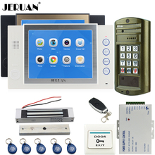 "JERUAN 8"" Video DoorPhone Record Doorbell Intercom System kit Waterproof Password HD Mini Camera +180kg Magentic lock + Power"