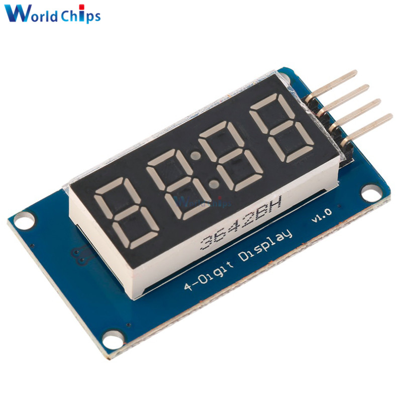 10pcs TM1637 LED Display Module For Arduino 7 Segment 4 Bits 0.36Inch Clock RED Anode Digital Tube Four Serial Driver Board Pack