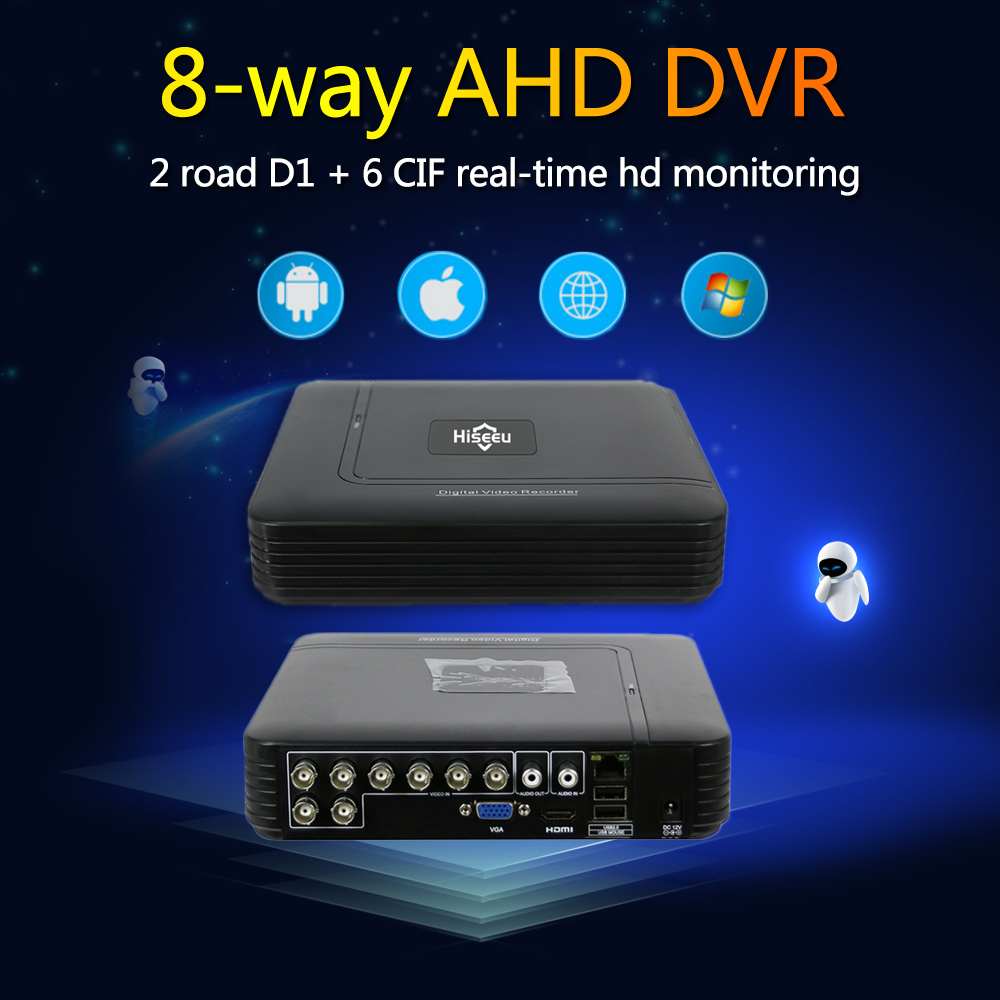 Hiseeu 8CH CCTV DVR AHD 1080N 5IN1 For CCTV Kit DVR VGA Security System HDMI NVR For IP Camera Onvif PTZ DVR Dropshipping 48 4ch 8ch 1080n cctv ahd dvr nvr xvr video