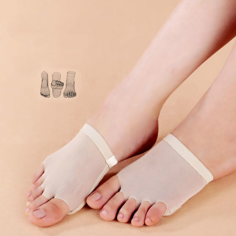 2018 New Five Toe Sock Forefoot Care Protection Toe Cushion Shoe Cover Wear Foot Care Dance Padded Peds And Liners Women Socks ...