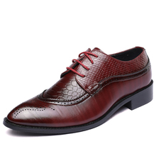 Elegant Pointed Toe Man Oxfords Leather Formal Dress Shoes