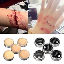 New Halloween Nude Color Wound Scar Makeup Wax Stage Makeup Halloween Party Fake Wound Scars Wax Body Painting