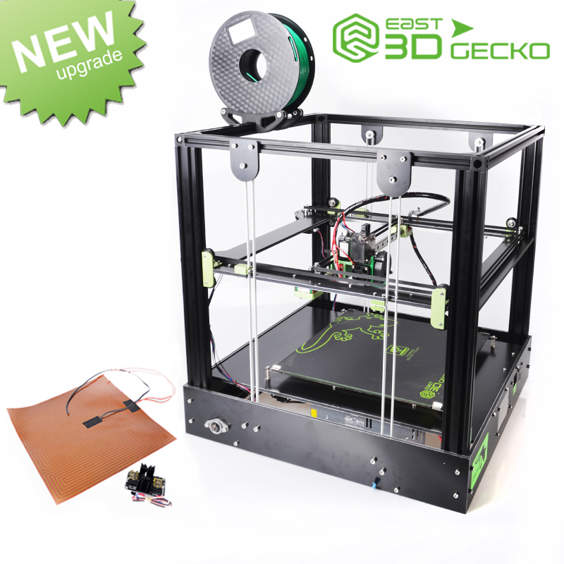 East 3D Printer  East 3D Gecko Core XY Structure DIY Kit with heat bed large print size with Titan extruder clone 3D Printer flsun delta 3d printer large print size 240 285mm 3d printer pulley version linear guide kossel large printing size