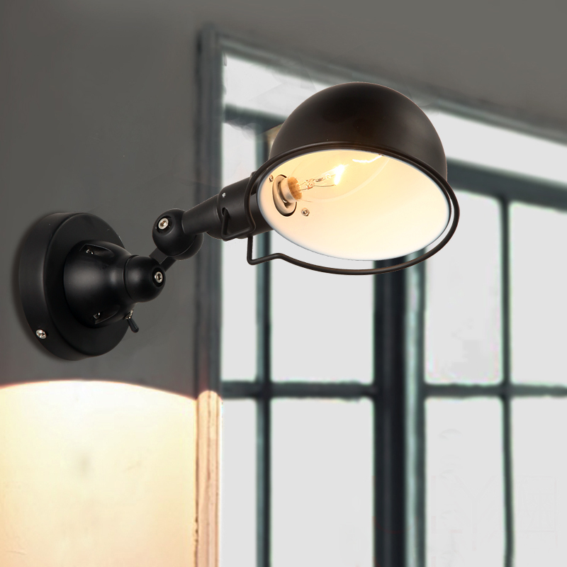 Vintage industrial style American country wall lights bedside lamp LED creative personality with switch wall lamp ZZP730616 футболка стрэйч printio rise against photo