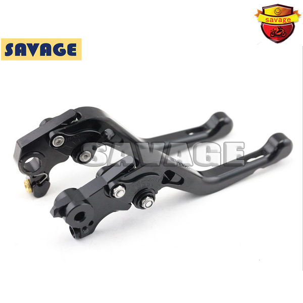 For KTM 690 DUKE 690 SMC-R 2014-2015 Black Motorcycle Accessories CNC Aluminum Short Brake Clutch Levers with logo for ktm 690 duke 990 super duke 1290 super duke rc8 r motorcycle accessories aluminum short brake clutch levers red