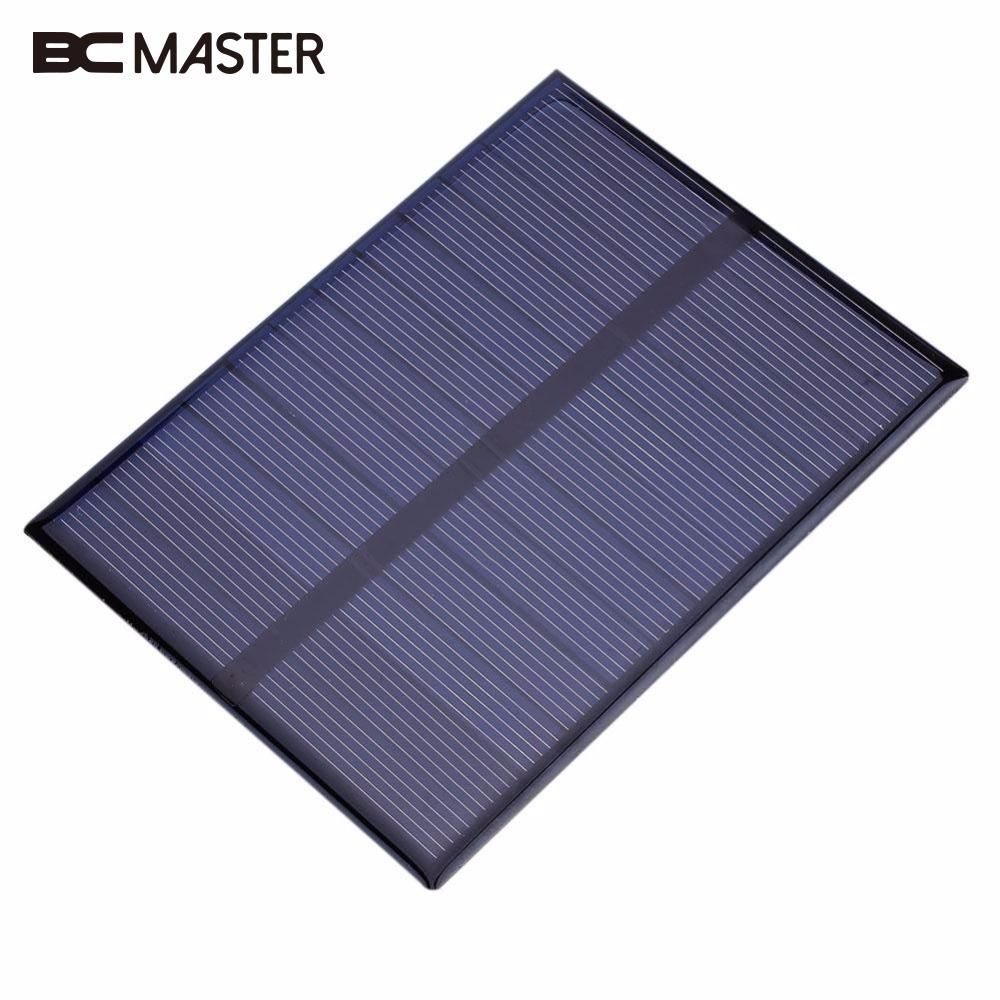 BCMaster 1.2W 6V Polycrystalline Solar Panel Battery Charger 112x84mm Outdoor Portable Travelling Power Supply Solar Module Gift