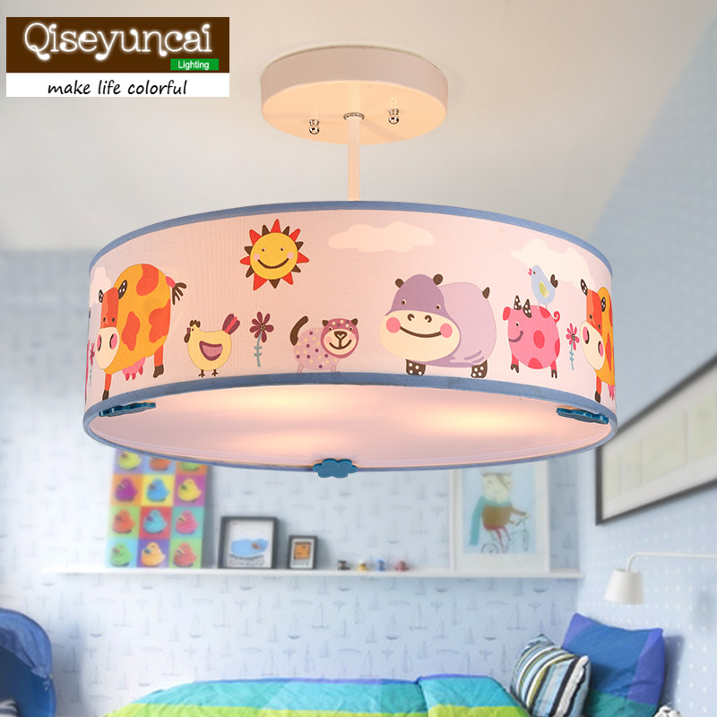 Qiseyuncai Childrens room chandelier girl warm cute animal cartoon bedroom lamp boy creative garden room eye protection lampQiseyuncai Childrens room chandelier girl warm cute animal cartoon bedroom lamp boy creative garden room eye protection lamp