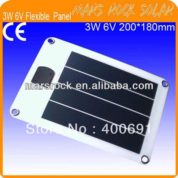 3W 6V 200*180mm Flexible Amorphours Silicon Solar Cell Panel with USB Outlet & Interface and 4 Holes for Fixing flexible silicon keyboard
