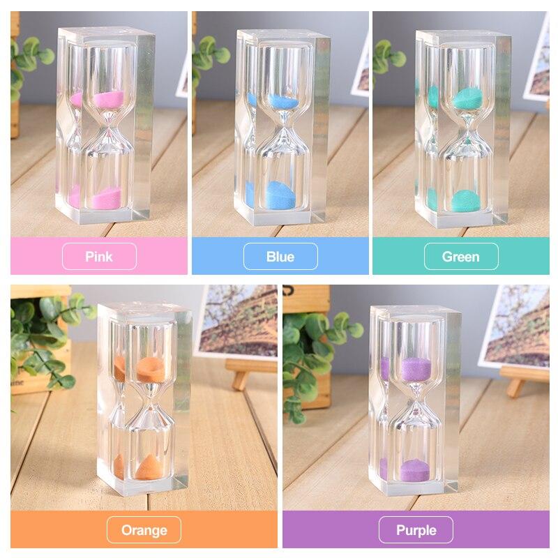 Mini Sand Timer 10 Minutes Sandglass 5 Colored Transparent 15 Mins Timing Clock Plastic Watch Home Decoration SL-15YKL