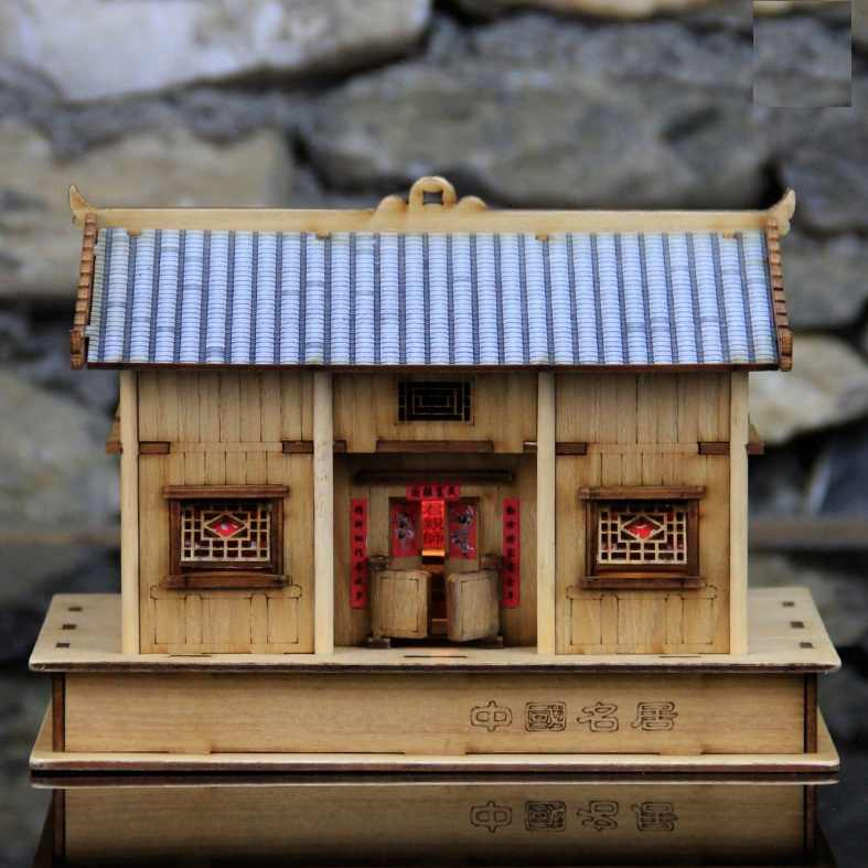 Chinese Ancient Classic wooden National architecture model kit DIY building wooden model kits