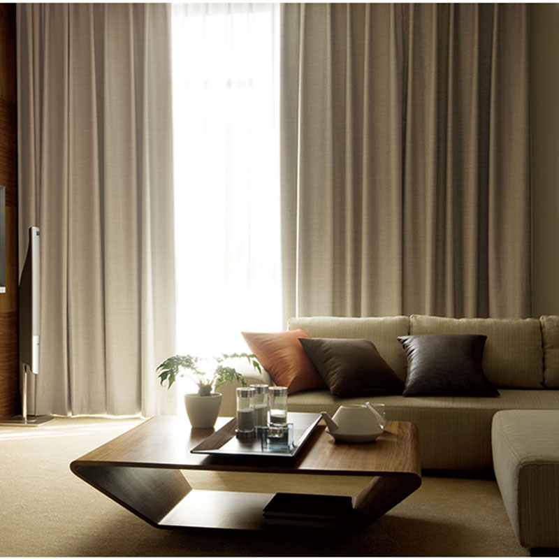 fashionable simple stripe design blackout curtains solid