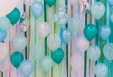 Laeacco Happy Birthday Balloons Ribbon Scene Baby Children Photography Backgrounds Photographic Vinyl Backdrop For Photo Studio