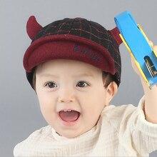 Plaid niños sombreros para niño chico lindo Niñas sombrero gorro de algodón  caliente fotografía infantil primavera 16d5aefca04