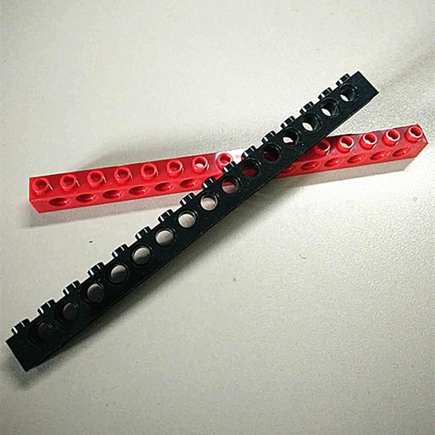 6-12Pcs/lot DECOOL Technic Brick 1x16 With 15 Holes Compatible With 3703 MOC DIY Bricks Blocks Parts