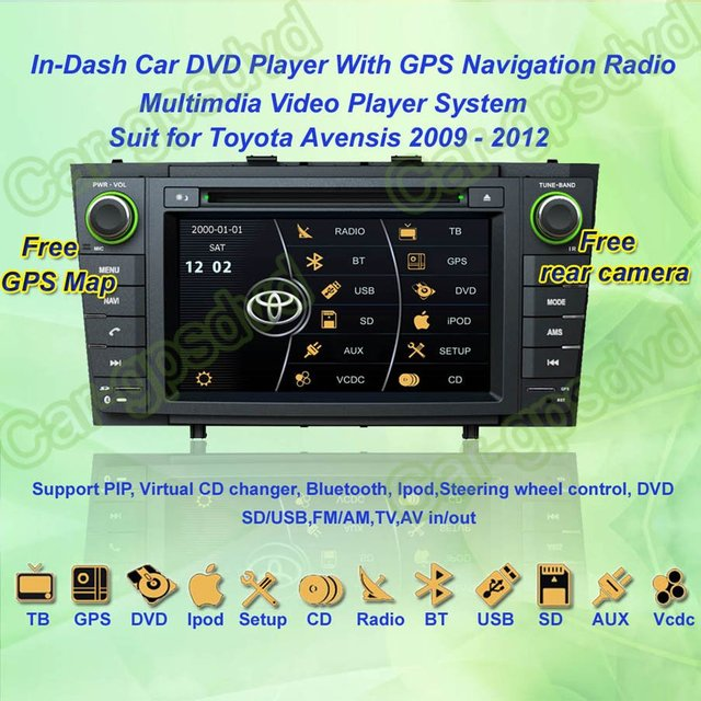 2009- 2012 Toyota Avensis GPS Navigation DVD Player ,TV,Multimedia Video Player system+Free GPS map+Free shipping!!!