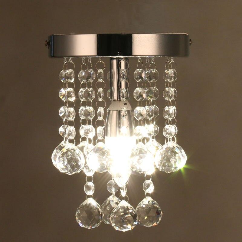 US $41.51 20% OFF|Modern Crystal Chandelier Mini RainDrop Small Lighting  for Bedroom Living Room Ceiling Lamp Corridor Hallway Lamp Home Fixture-in  ...