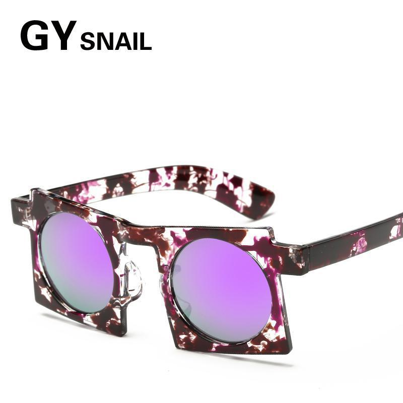 f09bad67477f GYSnail 2017 New Trendy Vintage Hip Hop Sun Glasses Hot Sale Fashion Women  Square Frame Round Lens Cool Sunglasses UV Protection-in Sunglasses from  Apparel ...