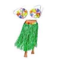 موضوع حزب الملونة هاواي الاستوائية حولا لوا العشب راقصة تنورة و الصدرية مجموعة