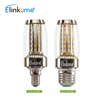 Elinkume E27 LED Corn Bulb E14 Candle Light 9W 58LEDs SMD2835 Light Bulb AC110V 220V Edison