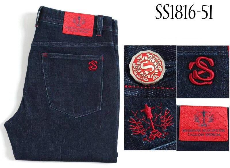 MILJARDAIR TACE & SHARK jeans slangenhuid mannen 2018 Herfst winter dikke nieuwe stijl mode toevallige hoge kwaliteit gratis shippng-in Spijkerbroek van Mannenkleding op  Groep 1