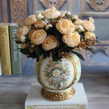 6 Branches Artificial Flower Fake Peony Vivid 6 Head Autumn Home Room Bridal Hydrangea Decor все цены