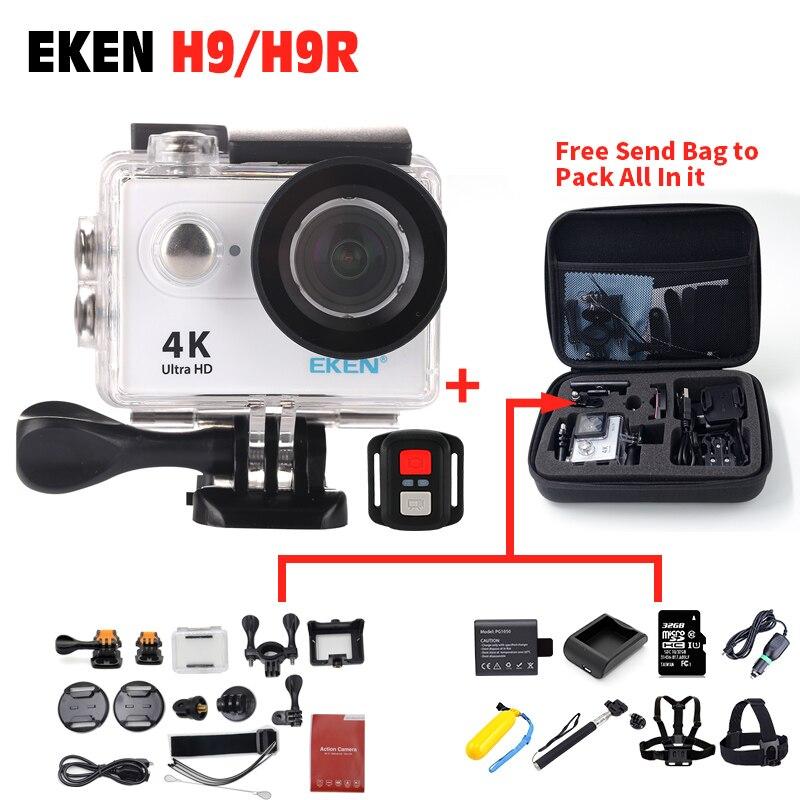 Hot Original EKEN H9 H9R Ultra Wifi 4k 2 Screen 30M Waterproof Remote Sports Action Camera