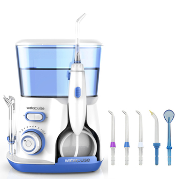 Waterpulse Dentaire Flosser V300 Irrigateur Oral 800 ml Irrigateur Dentaire Jet D'eau Puissant Flosser ou 5 pièces Lame De Remplacement